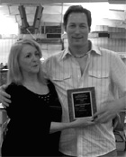 Julie Collin presenting Greg with GC Khetmeo Desiree's Award For Being Highest Scoring Birman Kitten In Show!
